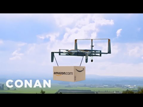 Conan Tests Amazon's Drone Delivery Service  - CONAN on TBS