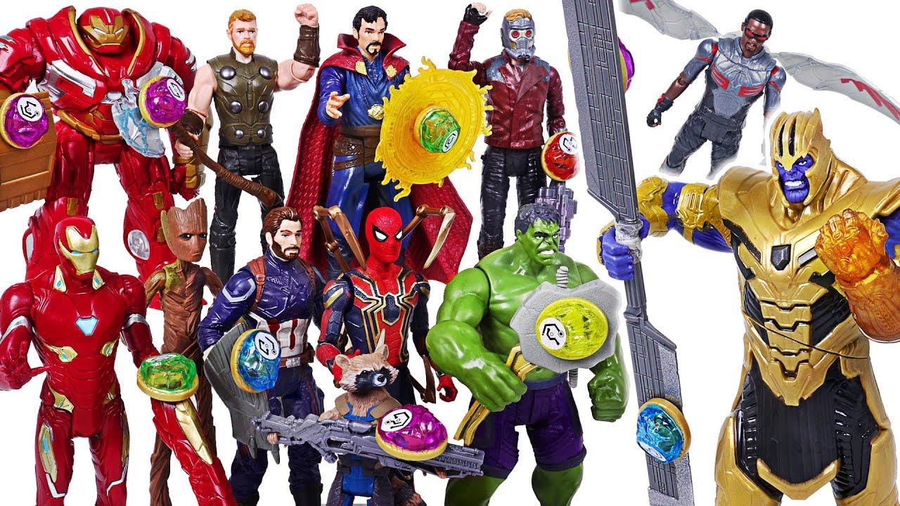 Marvel Avengers Infinity War Infinity Stone Hulk, Spider Man! Defeat Thanos, dinosaur! #DuDuPopTOY