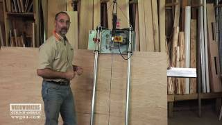 Woodworking Tools: Power Tools - Using A Vertical Panel Saw