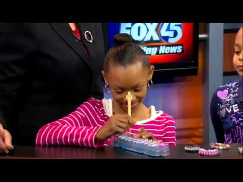 Girls Use Rainbow Loom for Fundraiser  FOX45 Morning News Baltimore