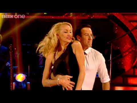 Jerry Hall & Anton dance to