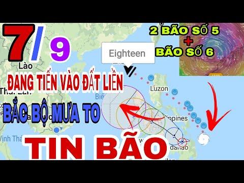 Dự báo thời tiết Hôm nay ngày mai 7.9.2021 | Tin bão mới nhất  | thời tiết mới nhất 10 ngày tới