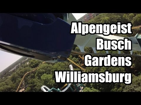 Alpengeist Roller Coaster Front Row PoV HD Busch Gardens Williamsburg VA!