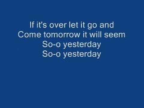 So Yesterday w/ lyrics