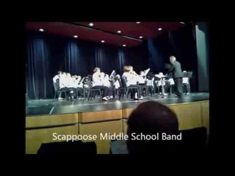 Scappoose Middle School BAND and Scappoose High School Band Xmas2013