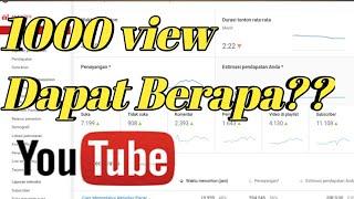 Penasaran!! Berapa $ Dapat 1000 View Di Youtube Ini Penjelasannya