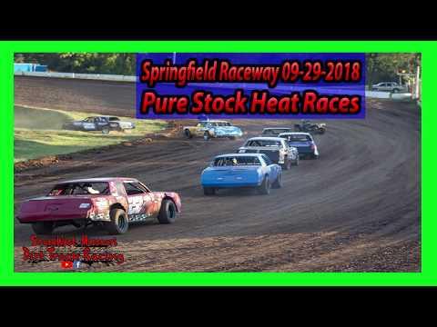 Pure Stock Heat Races - Springfield Raceway 9-29-2018 Under The Lights 100