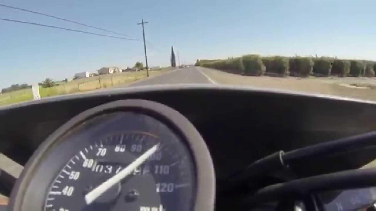 suzuki dr650 120mph top speed run-fail - youtube