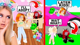 She ONLY Wanted To ADOPT US Because Of Our NEON DINOSAURS In Adopt Me! (Roblox)