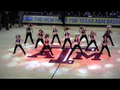 Texas A&M Aggie Dance Team 2015-2016 - Men's Basketball vs Baylor Dec 19
