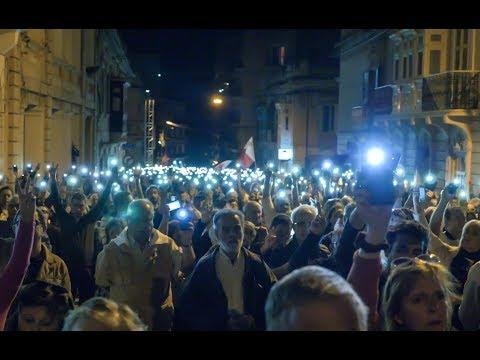 Protest following the assassination of journalist Daphne Caruana Galizia (MALTA)
