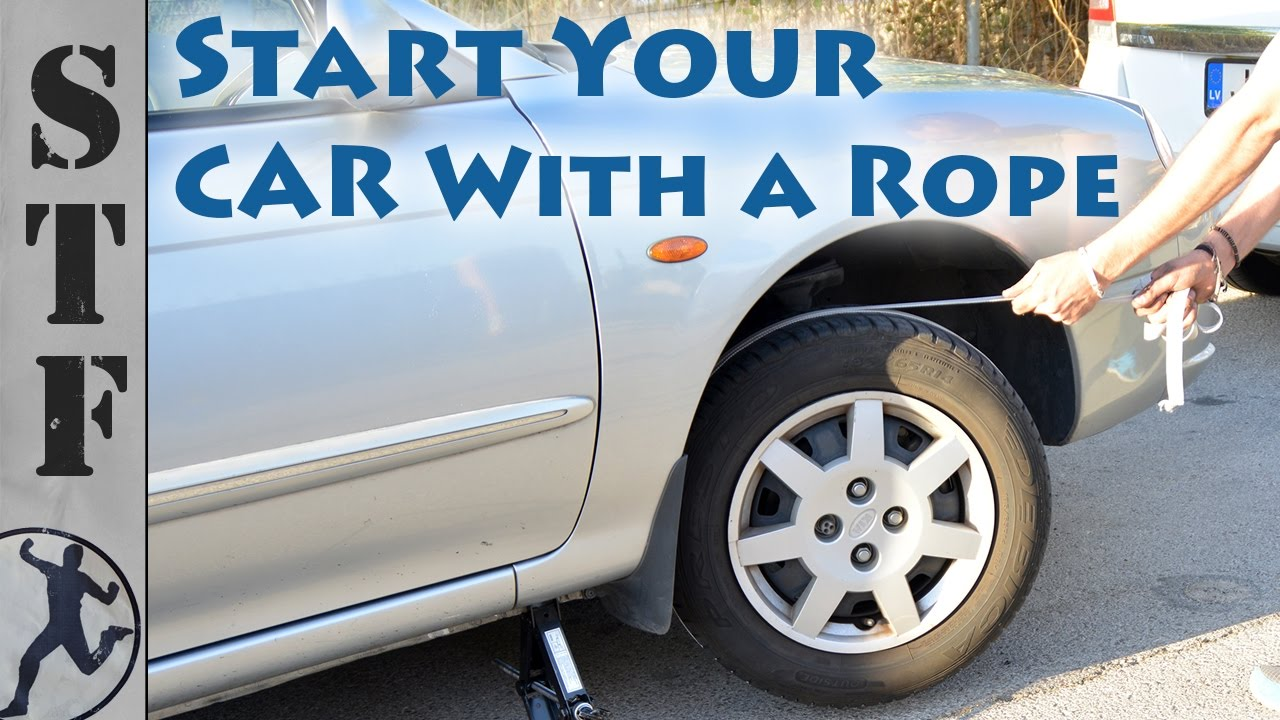 How To Start A Car With A Dead Battery >> Start Your Car With A Rope Dead Battery Life Hack