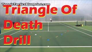 Tennis Drills | Triangle Of Death Drill - Precision