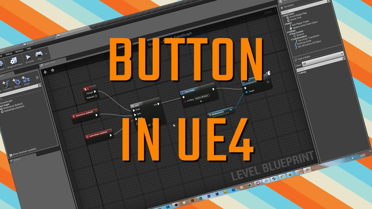 UE4 Button To Move A Static Mesh