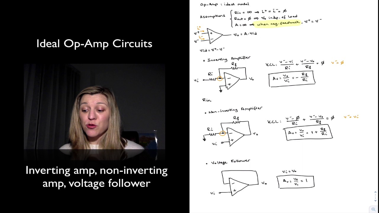 Review Of Op Amps Inverting Amp Non Voltage Amplifier With Class Ab Follower