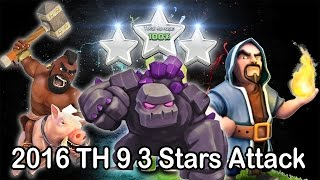Clash of Clans 3 Stars Attack  | THE BEST TH9 Attack Strategy for Clan War