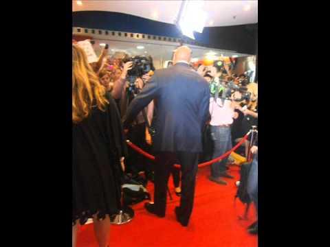 The Rock at G.I Joe: Retaliation Sydney Premiere