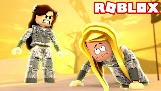 JOINING THE ARMY IN ROBLOX!