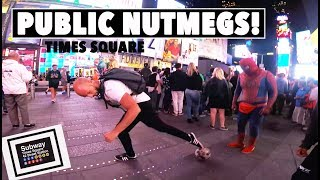 EPIC NUTMEG/PANNA GAME IN TIMES SQUARE!