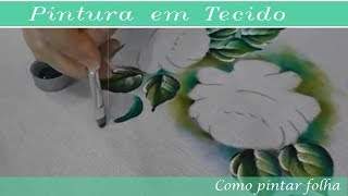 Pintura em Tecido Folha