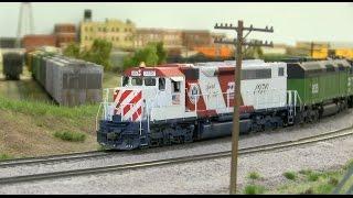 bn ho scale model railroad layout train journey