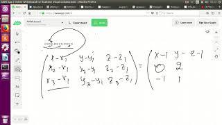Уравнение плоскости по трем точкам