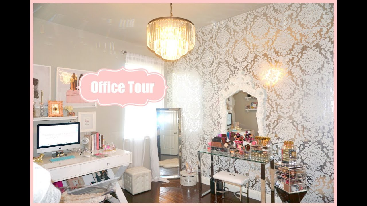 Makeup room office tour my filming room tour 2015 for Make my house