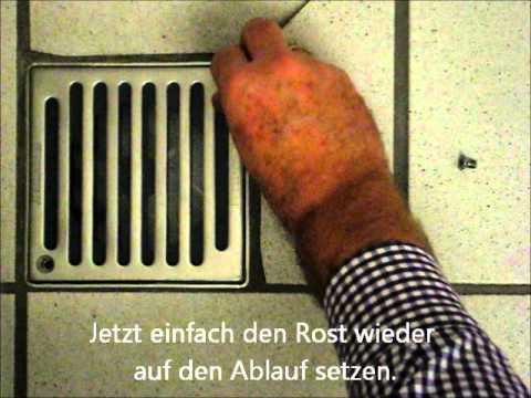 Bostop Geruchsverschluss Fur Bodenablauf Youtube