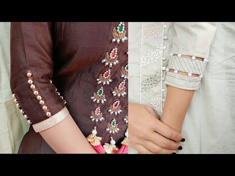 2 Beautiful beaded sleeves designs in very easy way