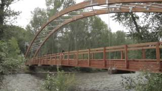 Construction Of The Bow Bridge Of The Big Wood River