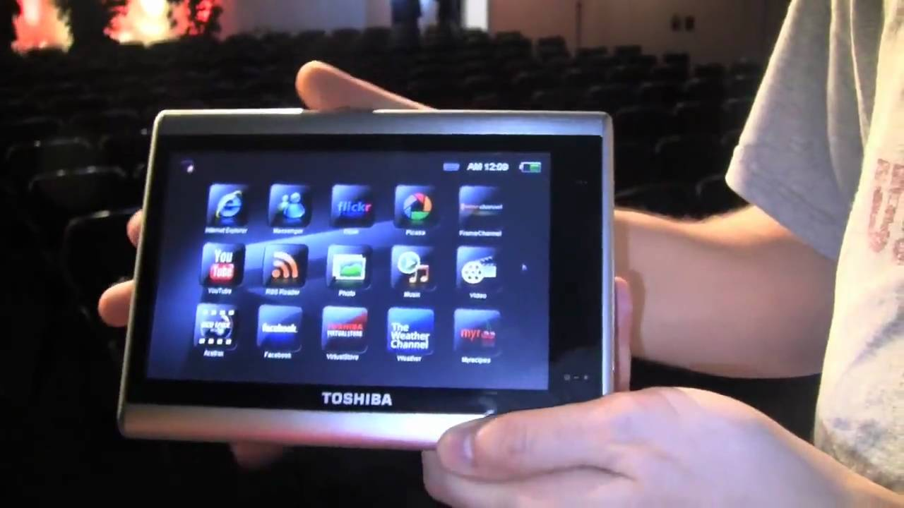 toshiba journe touch tablet hands on youtube. Black Bedroom Furniture Sets. Home Design Ideas
