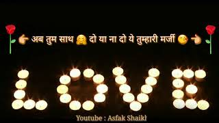 New Whatsapp Status Video Hindi 2017    Most Heart Touching Romantic Love Songs For Kaabil Movie   Y