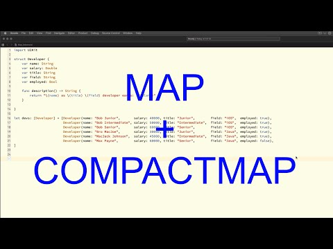 iOS Programming in Swift: Simple and enhanced example of the map function thumbnail