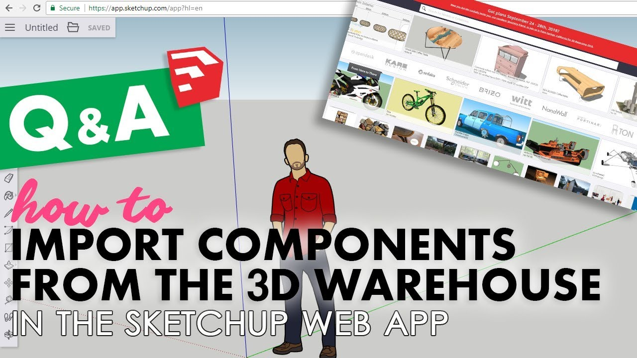 How to Import Components in the Sketchup Web App | Sketchup Q&A