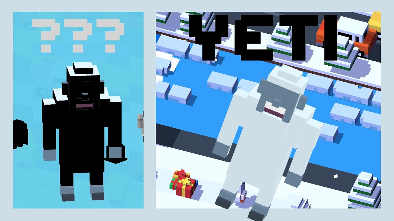 CROSSY ROAD YETI Unlock! | NEW Secret Characters of the Christmas Update!  (Android, iOS)