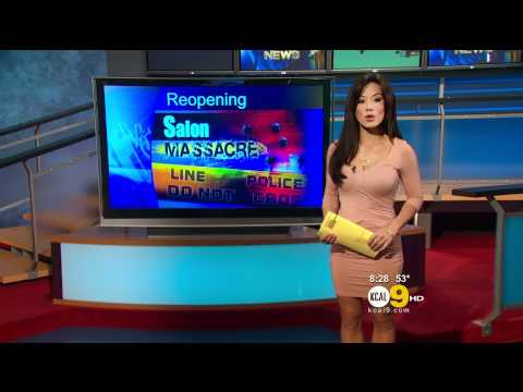 Sharon Tay 2012/02/02 KCAL9 HD; Pink dress