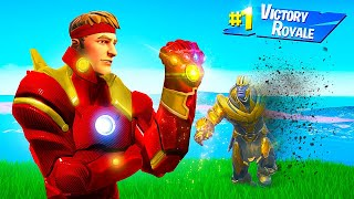 PLAYING AS THE MOST POWERFUL AVENGER in FORTNITE!