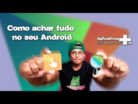 Como achar tudo no seu Android   #05 OS APPS + ESQUEMAS   Gesture Search e Androsearch