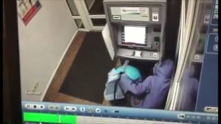 Explosion of a cash dispense by gas in a ball