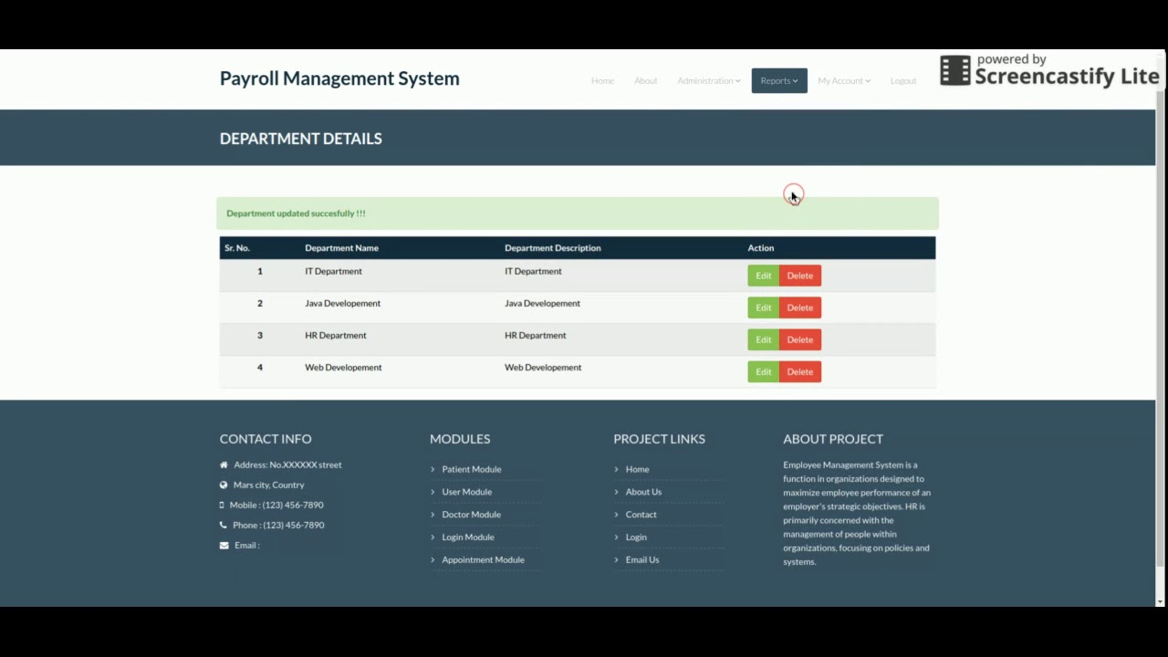 Python, Django and MySQL Project on Payroll Management System