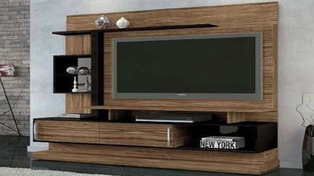 TV Cabinet Designs For Living Room India For Wall Wooden ...
