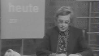 Sehr alte ZDF heute Nachrichten aus Februar 1974