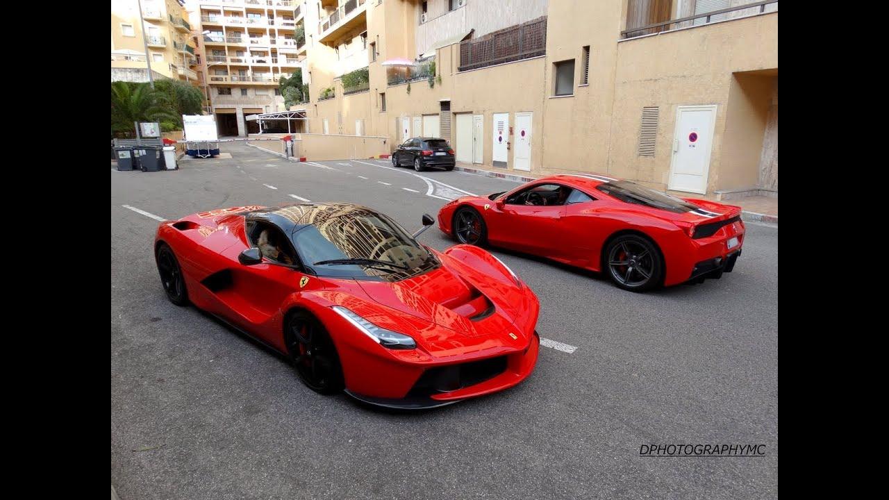 Ferrari LaFerrari & 458 Speciale LOUD accelerations - YouTube