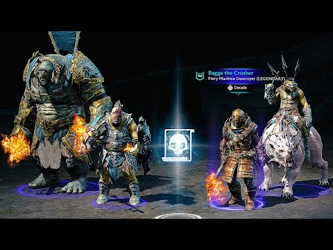 SHADOW OF WAR Loot Chests, Currency & Army Customization Gameplay