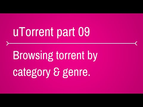 How to browse torrent by category and genre