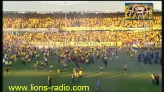 Η λήξη του αγώνα Η ΑΕΛ Πρωταθλήτρια  2011-2012 www.lions-radio.com