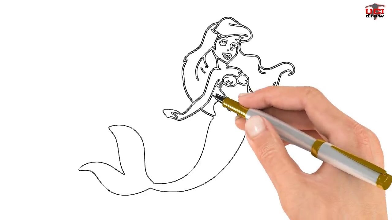 How to Draw a Mermaid Easy Step By Step Drawing Tutorial ...