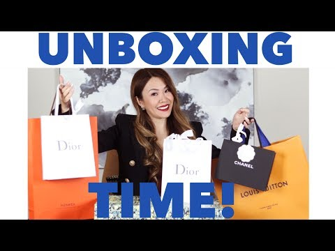 UNBOX WITH ME! | LUXURY HAUL ft LOUIS VUITTON, CHANEL, DIOR & HERMES