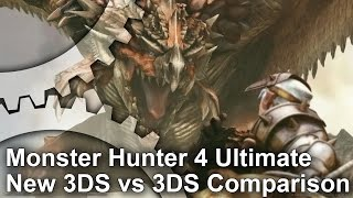 Monster Hunter 4 Ultimate New 3DS/3DS Frame-Rate Test + Analysis