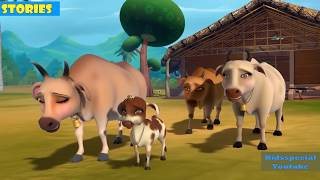 Learn Children Animals Story | Animated Videos | Cow VS Tiger | Stories For Kids